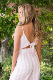 Pink And White Stripe Jumpsuit- Preppy Jumpsuit- $42- Online Women's Boutique
