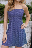 Navy Floral Print Sundress- Cute Women's Navy Sundress- $38