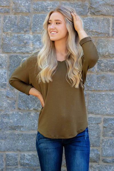 Just Relaxing Top-Olive
