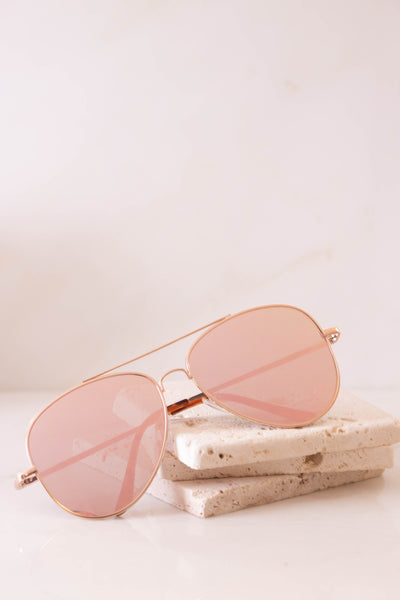 Rose Gold Sunglasses- Trendy Pink Sunglasses- $14- Juliana's Boutique