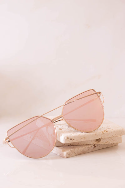 Play The Game Rose Gold Sunglasses