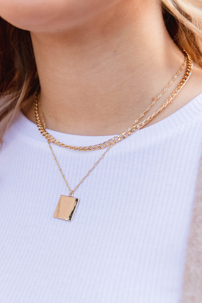Be There Or Be Square Layered Necklace