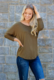 Simple V-Neck T-Shirt- Women's Simple Top- Essential Basic Top For Women- $22