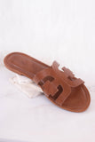 Trendy Cognac Sandals- Designer Inspired Sandals- $25- Juliana's Boutique