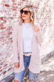 Oversized Ivory Cardigan- Wubby Knit Cardigan- Cute Fall Outfit- $35