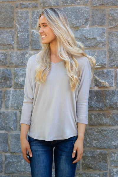 Simple V-Neck T-Shirt- Essential Basic Top For Women- $22