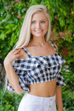Gingham Crop Top- Women's Trendy Crop Top- $26- Juliana's Boutique