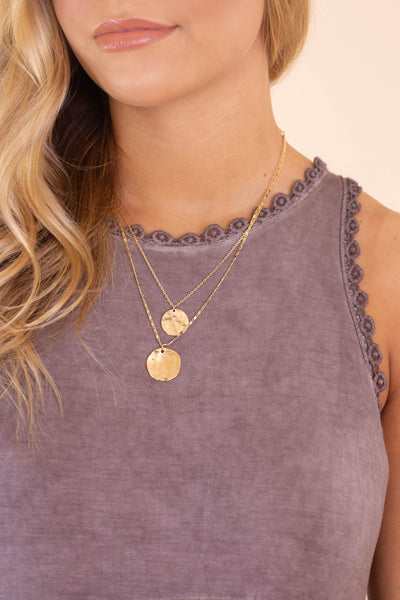 Seeking Treasures Coin Layered Necklace