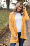 Cute Popcorn Cardigan- Golden Mustard Cardigan- $44- Juliana's Boutique