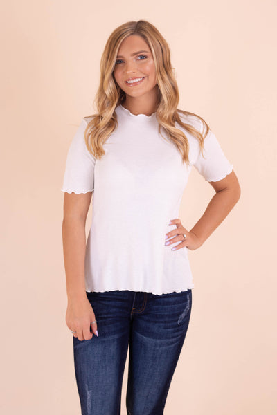 For the Frill Top-White