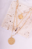 Fool's Gold Layered Coin Necklace