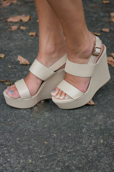 Bring It Back Wedges-Light Nude
