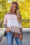Luxuriously Soft Sweater- Feels Like Butter Sweater- Women's Fall Stripe Sweater- $36