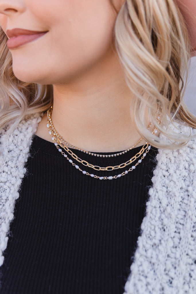 Sworn To Love Layered Necklace
