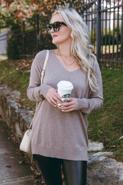 Luxuriously Soft Sweater- Mocha Sweater Feels Like Butter- $38