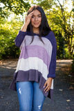 Oversized Striped Knit Sweater- Trendy Oversized Knit Sweater- Fall Sweaters- $46