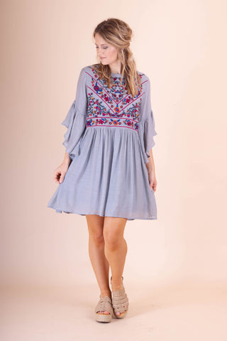 Cute Embroidered Tunic- Women's Cute And Affordable Online Boutique- $40