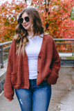 Women's Rust Orange Cardigan- Vintage Looking Cardigan- $45