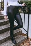 Women's Faux Leather Leggings- Women's Affordable Leather Leggings- $28