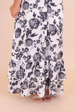 Black And White Floral Maxi Dress- Trendy Floral Maxi Dress- $44- Juliana's Boutique