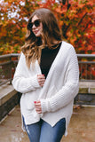 Women's Ivory Knitted Cardigan- Women's Cute Chenille Cardigan- $48