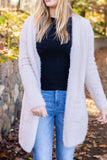 Fuzzy Ivory Cardigan- Super Soft Long Cardigan- Women's Cozy Cardigans- $48