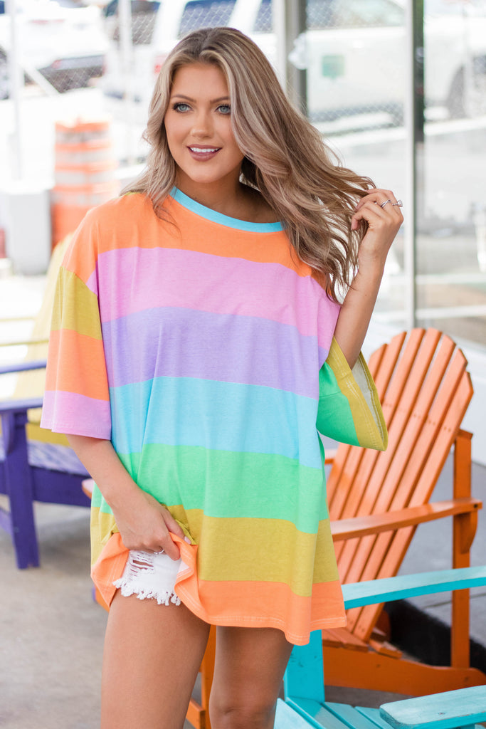Add Some Color Oversized T-Shirt