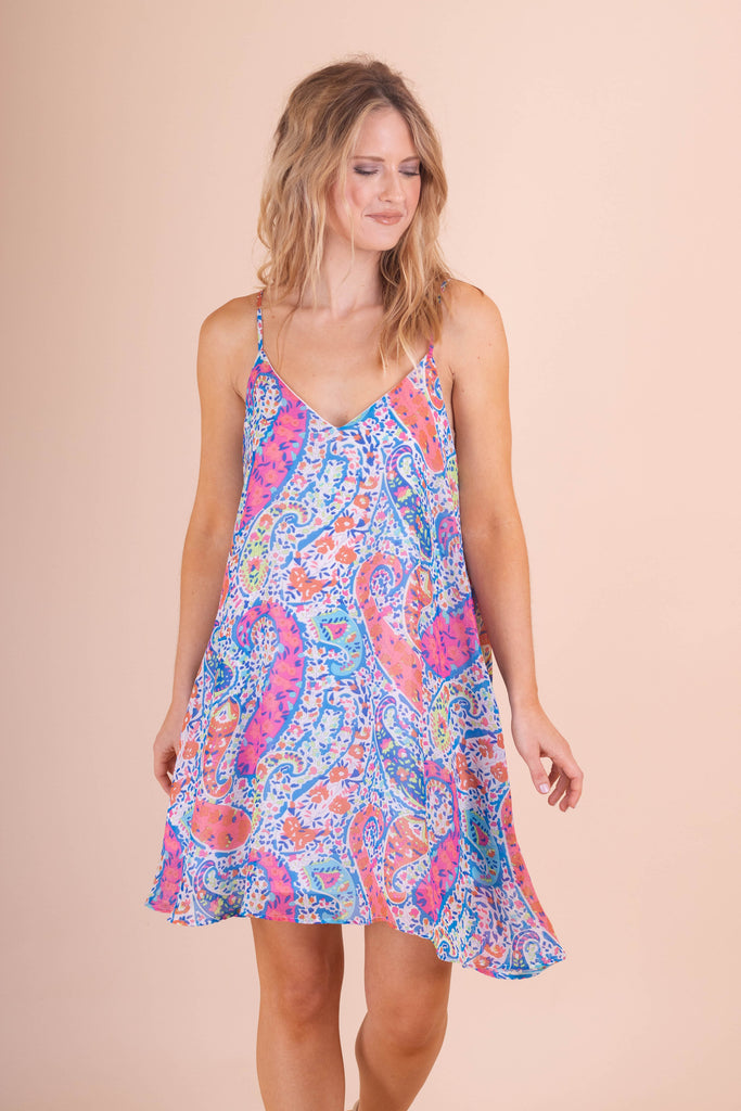 Paisley Print Tunic- Colorful Print Dress- $45- Trendy Online Boutique