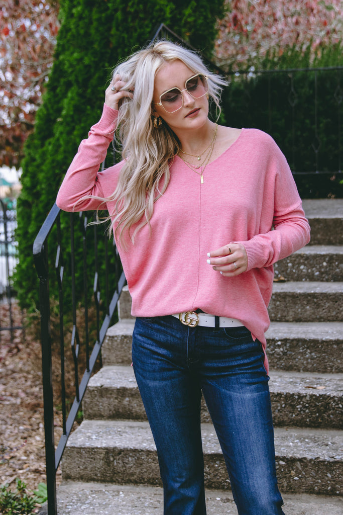 All That I Do Sweater-Dusty Rose