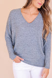 Women's Dolman Style Top- Women's Mint Blue Brushed Fabric Top- $28