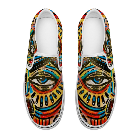 Abstract II Slip-on Canvas Shoes for Men Women