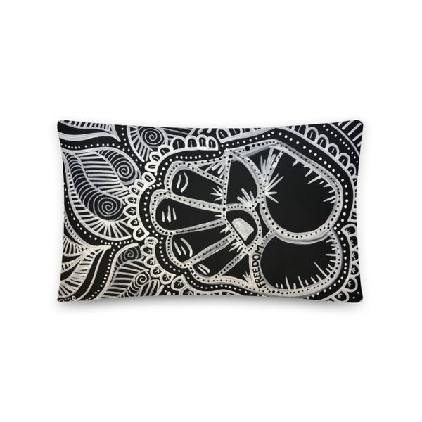 Freedom Basic Pillow (Solid Black Back)