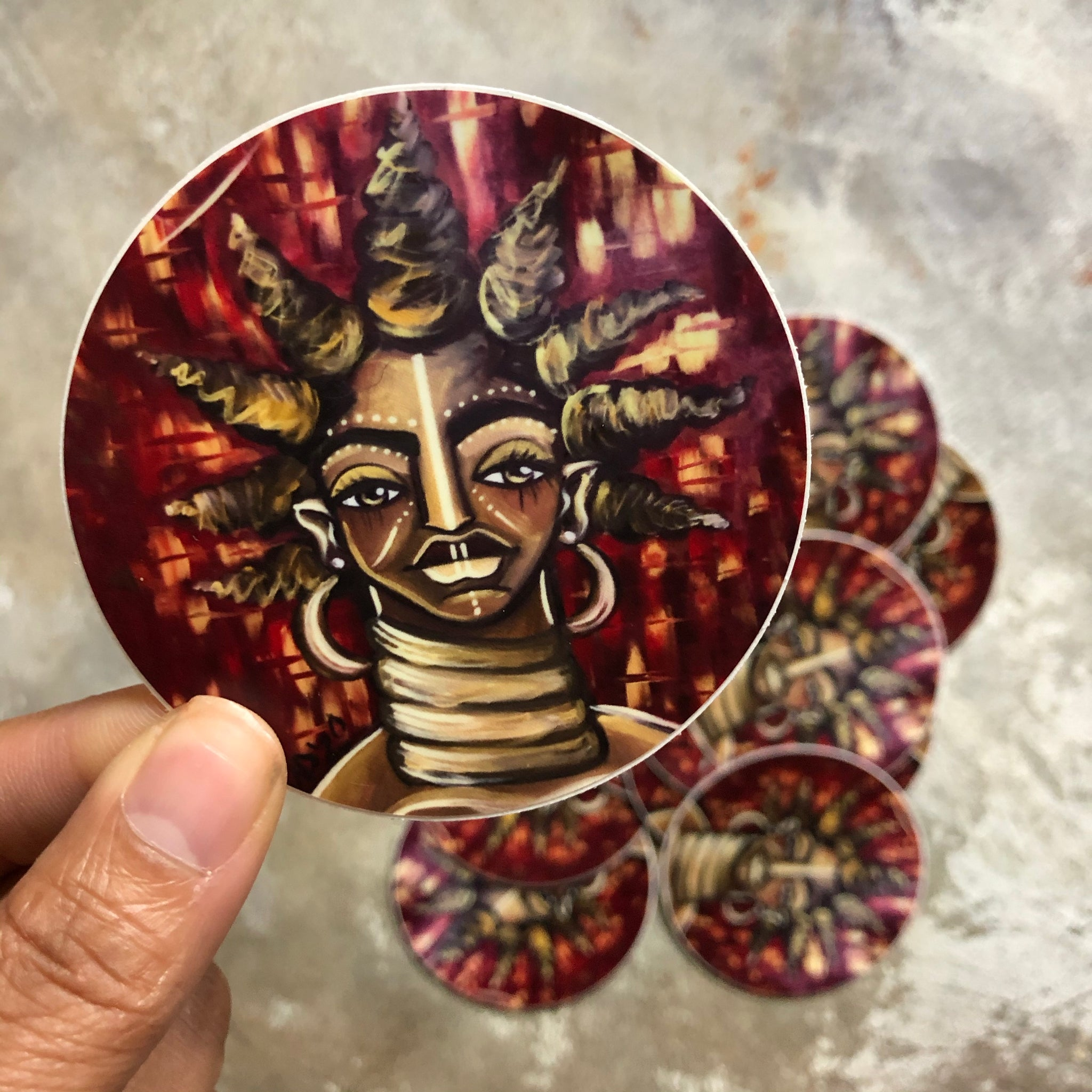 SHE Round Sticker