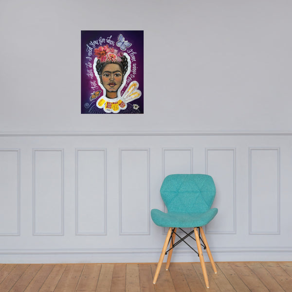 Frida Kahlo Wings to Fly Photo paper poster