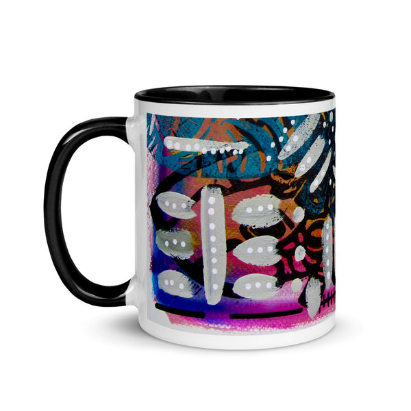 Abstract One Mug with Color Inside