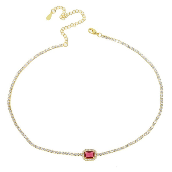 choker necklace tennis chain