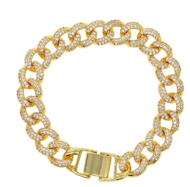 Miami cuban link chain bracelet luxury