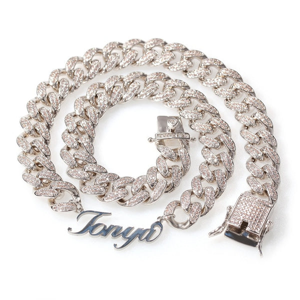 Iced Out Tennis Chain Name Necklace