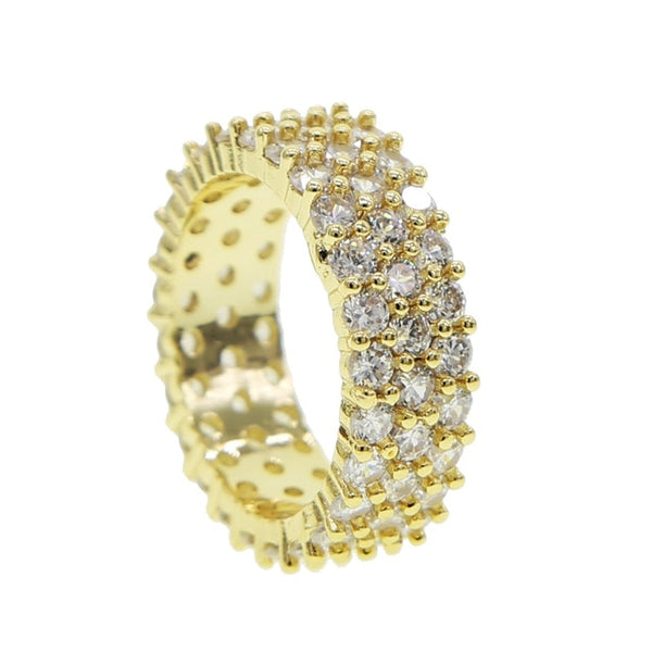 Gold Round Cut Eternity Band