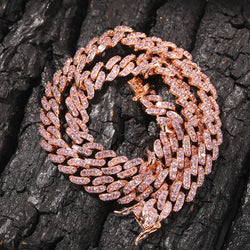 Two-Tone 9mm Cuban Link Necklace