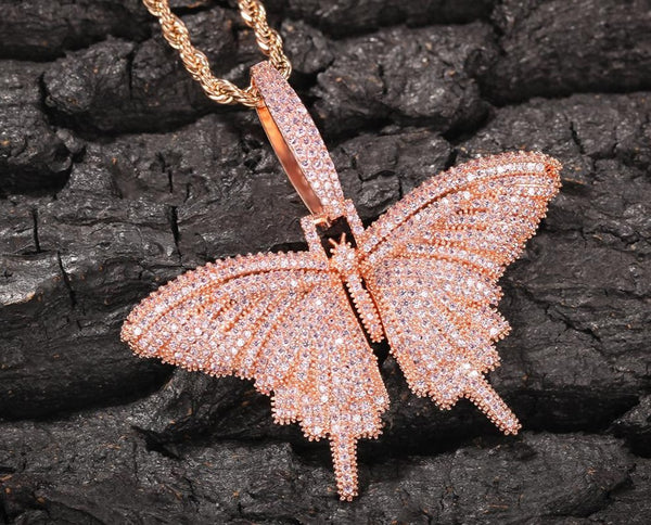 Mini Cuban Link Butterfly Necklace
