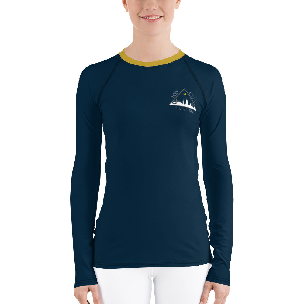 Women's Rash Guard - Navy