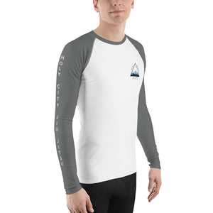 Men's Rash Guard - White and Grey