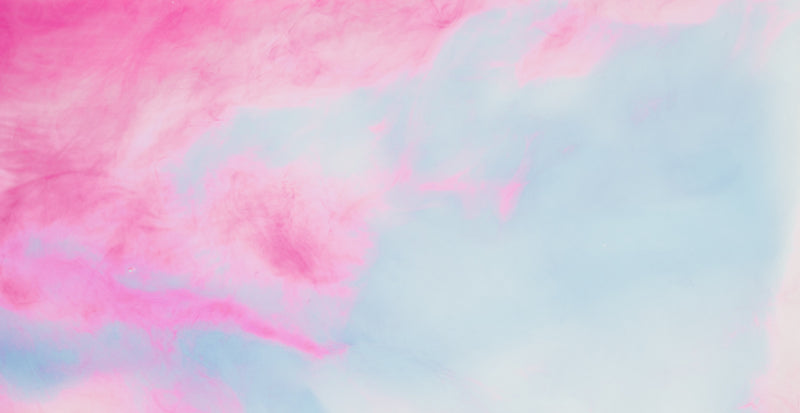 Pink and blue watercolour abstract art.