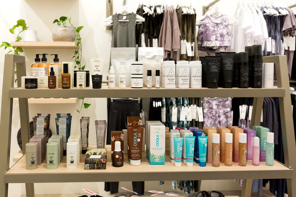 DAUB on Granville also stocks a selection of clean beauty and suncare such as Coola, Luna Bronze, Salt & Stone, Conscious Care and BYoga props for meditation and fitness.