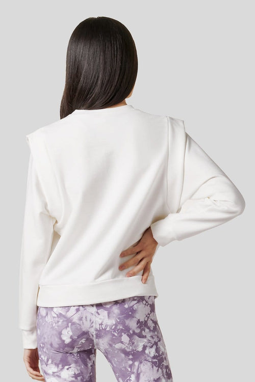 Capped Sleeve Sweatshirt in Ivory