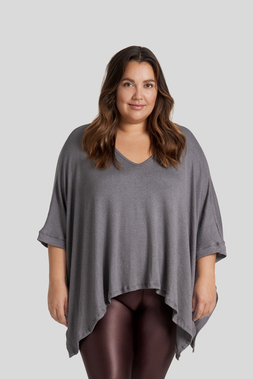 Grace Poncho in Steel