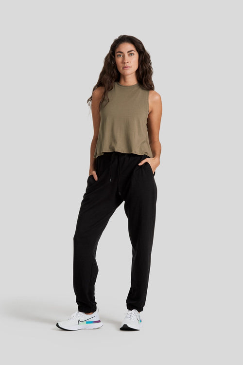 Mika Crop in Olive