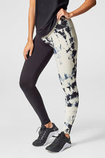 Adriana Leggings in Cream + Black