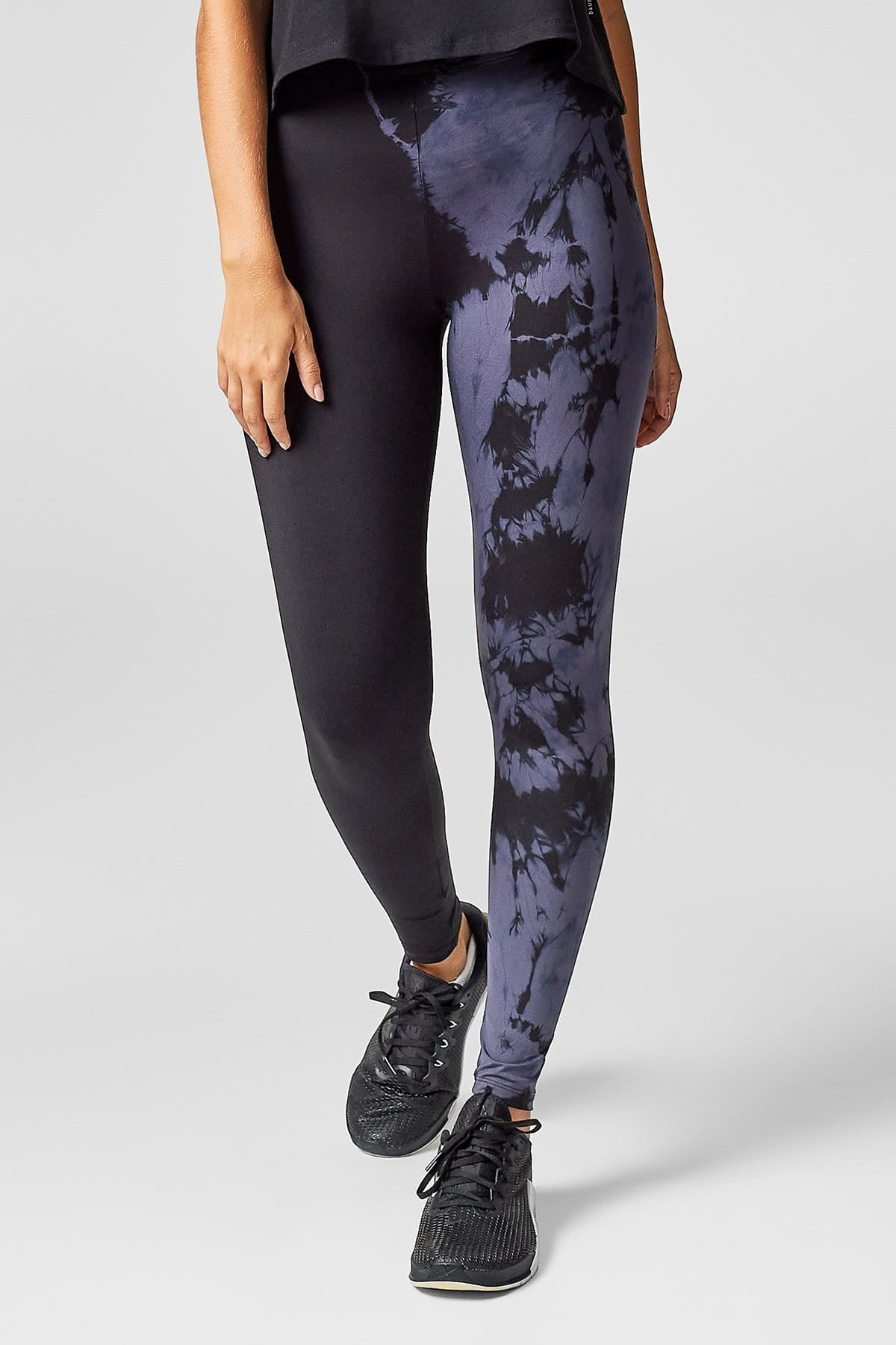 Adriana Leggings in Charcoal + Black